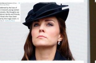 Duchess Kate Honouring Sabina Nessa In Rare Personal Tweet